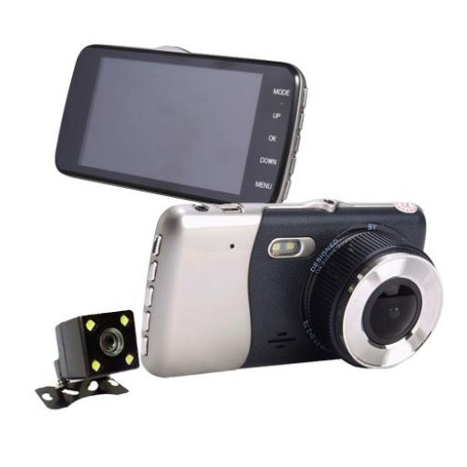 Dash cam With Front And Rear 1080p Cameras